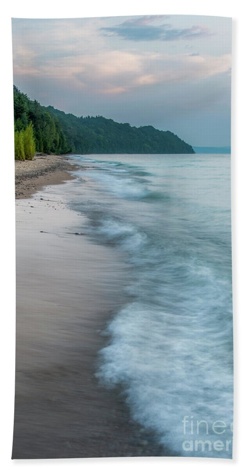 Michigan Beach Towel featuring the photograph Port Oneida Beach Vertical by Twenty Two North Photography