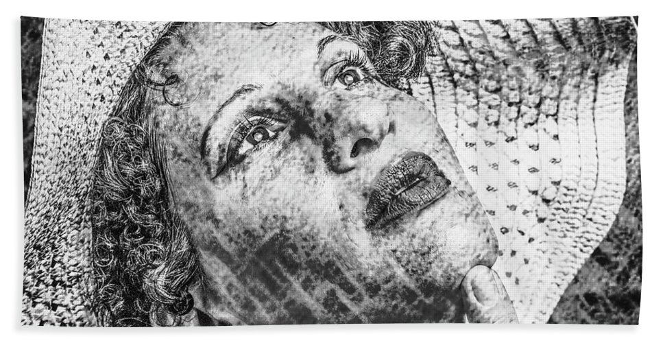 Kate Beach Towel featuring the photograph Portrait Of Kate by Nigel Dudson
