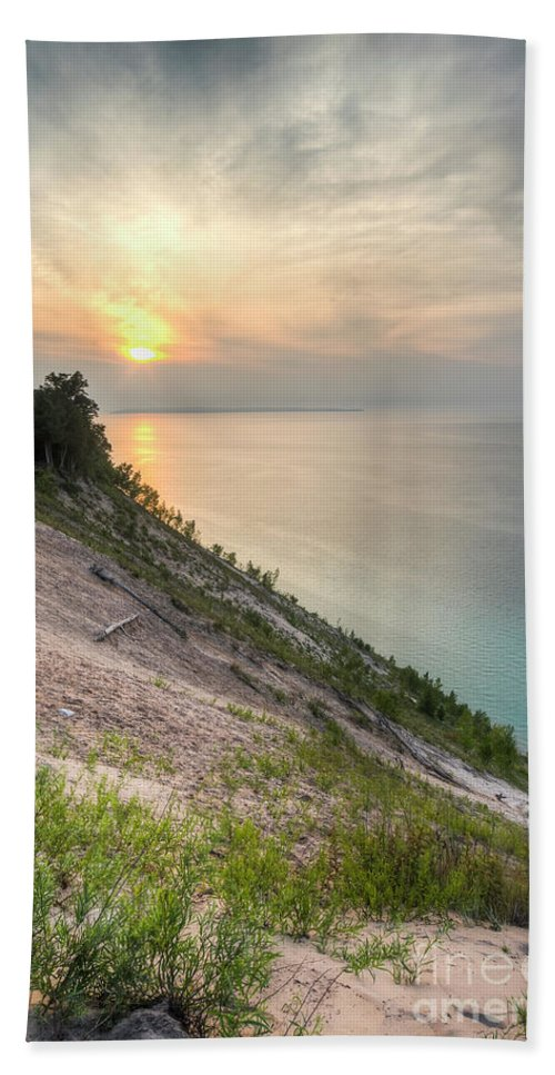 Pyramid Point Beach Sheet featuring the photograph Pyramid Point Summer Evening by Twenty Two North Photography