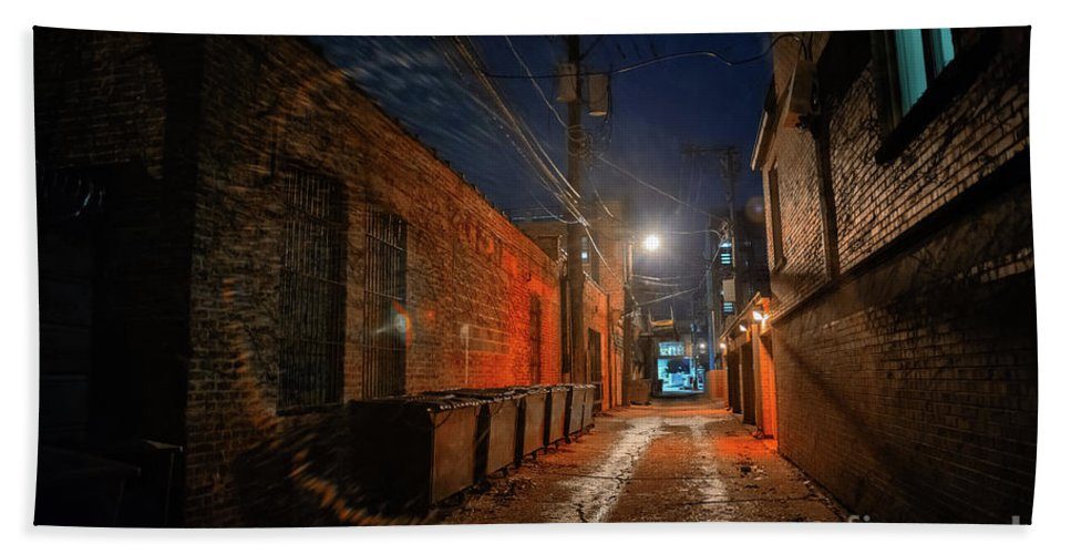 Alley Beach Towel featuring the photograph Red Alley by Bruno Passigatti