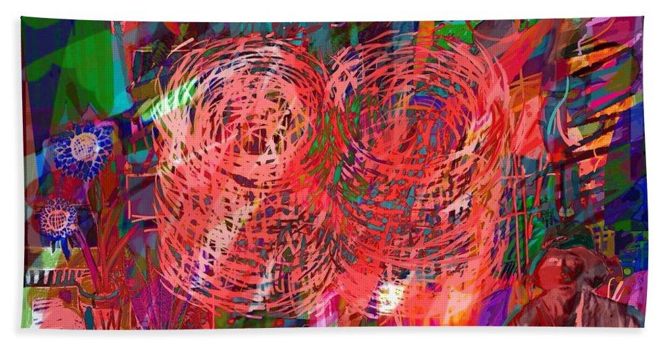 Woman Beach Towel featuring the digital art Red Swirls by Joe Roache