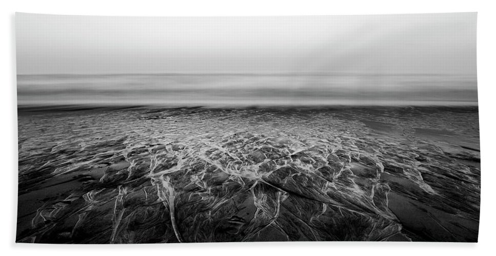 Serenity Beach Towel featuring the photograph Rivers Flowing Into The Night by Edgar Laureano