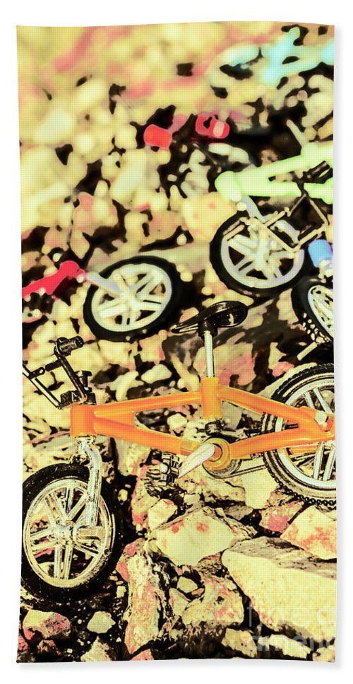 Sport Beach Towel featuring the photograph Rocky Racers by Jorgo Photography - Wall Art Gallery
