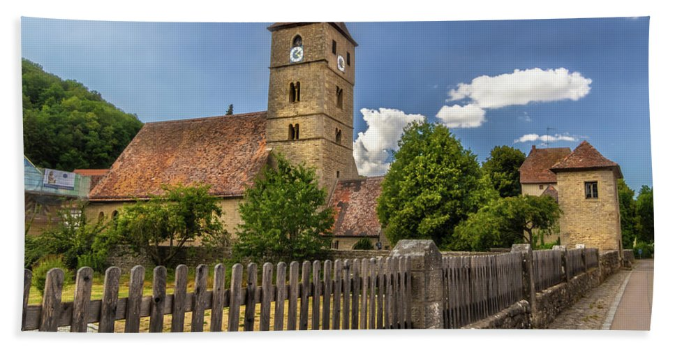 Rothenburg Beach Towel featuring the photograph Rothenburg Ob Tauber Church by Norma Brandsberg