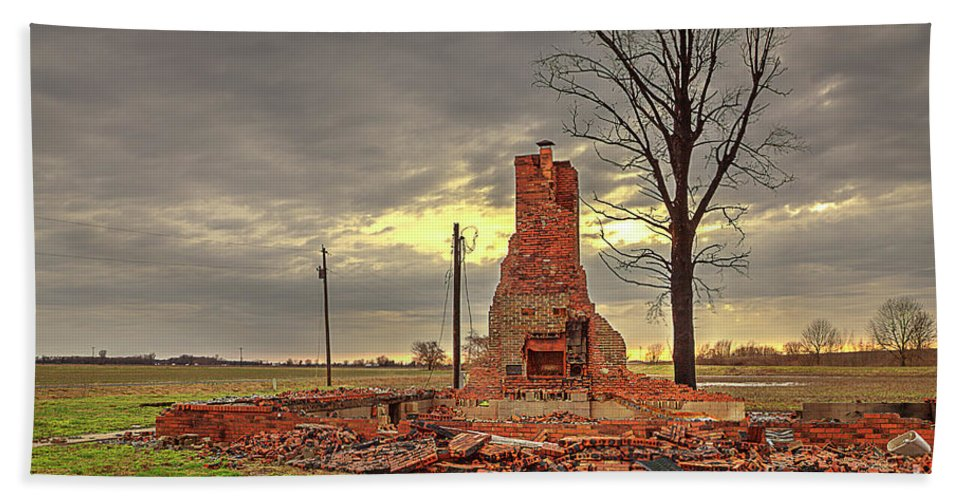 Explore Beach Towel featuring the photograph Rubble by Larry Braun