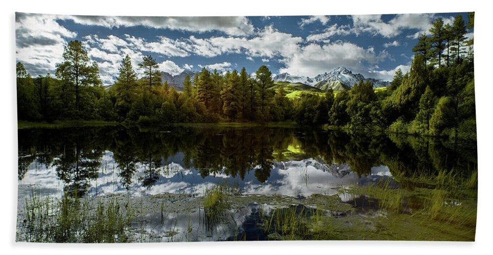 Colorado Beach Sheet featuring the photograph San Juan Mountains by Jon Glaser