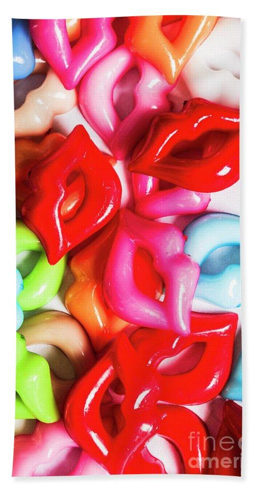 Kiss Beach Sheet featuring the photograph Sexy Lips by Jorgo Photography - Wall Art Gallery