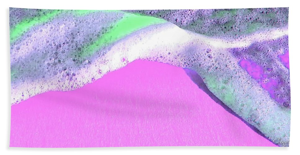 Beach Towel featuring the digital art Sherbet Shores by Cindy Greenstein