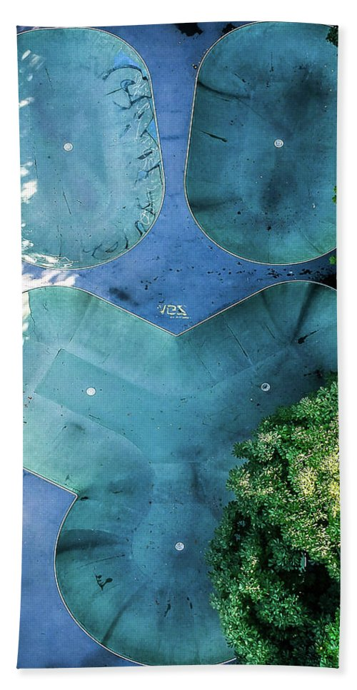 Drone Beach Towel featuring the photograph Skatepark - Aerial Photography by Nicklas Gustafsson