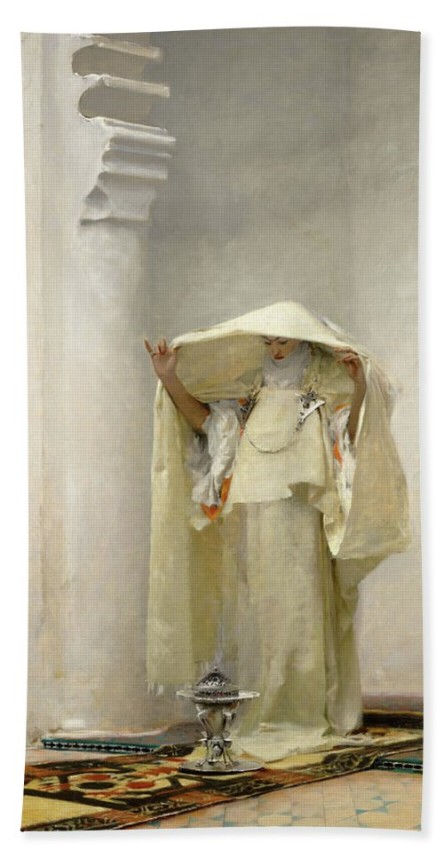 John Singer Sargent Beach Towel featuring the painting Smoke of Ambergris by John Singer Sargent