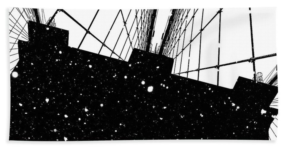 Snow Beach Towel featuring the digital art Snow Collection Set 04 by Az Jackson