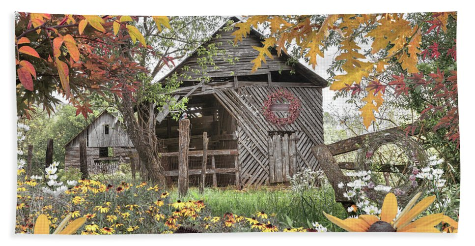 Barn Beach Towel featuring the photograph Soft Country Colors by Debra and Dave Vanderlaan