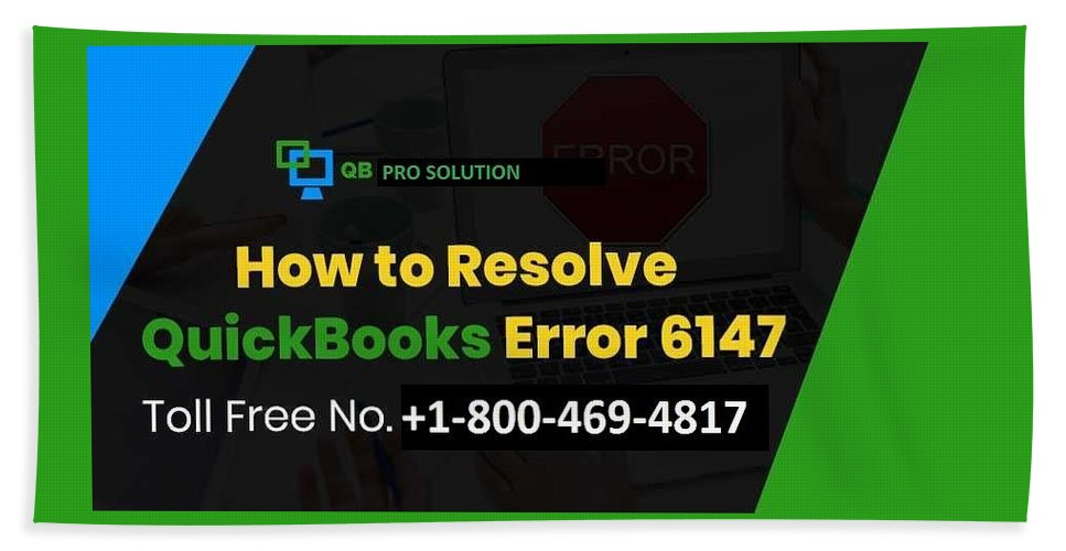 Quickbooks Error 6147-0 Beach Towel featuring the mixed media Solution Quickbooks Web Connector Error 6147,0 by Emma