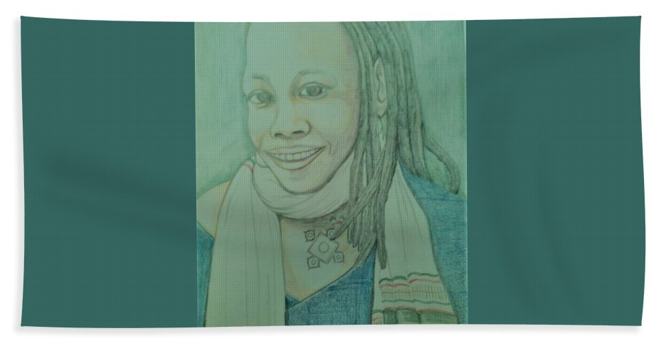 Beach Towel featuring the drawing SoulJah by Andrew Johnson