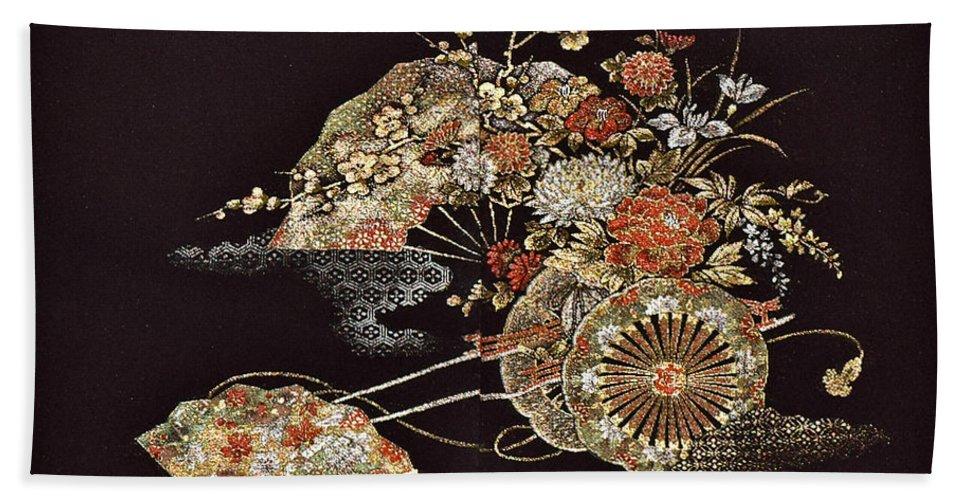 Beach Towel featuring the digital art Spirit of Japan H2 by Miho Kanamori