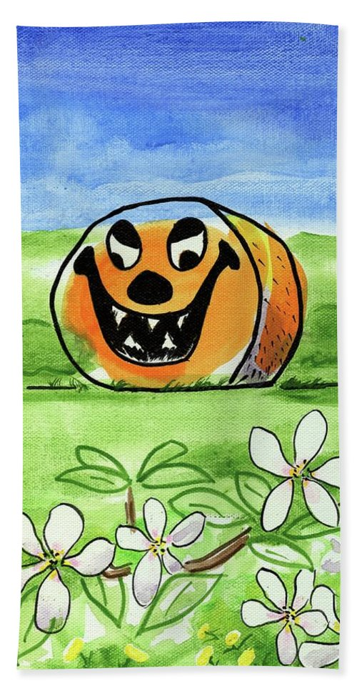 Halloween Beach Sheet featuring the painting Spring-o-ween by Kevin Cameron