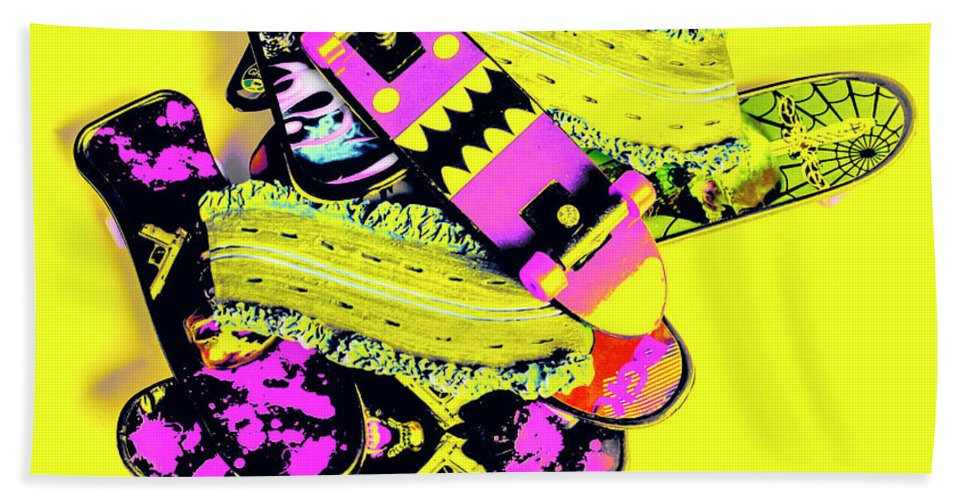 Yellow Beach Towel featuring the photograph Still Life Street Skate by Jorgo Photography - Wall Art Gallery