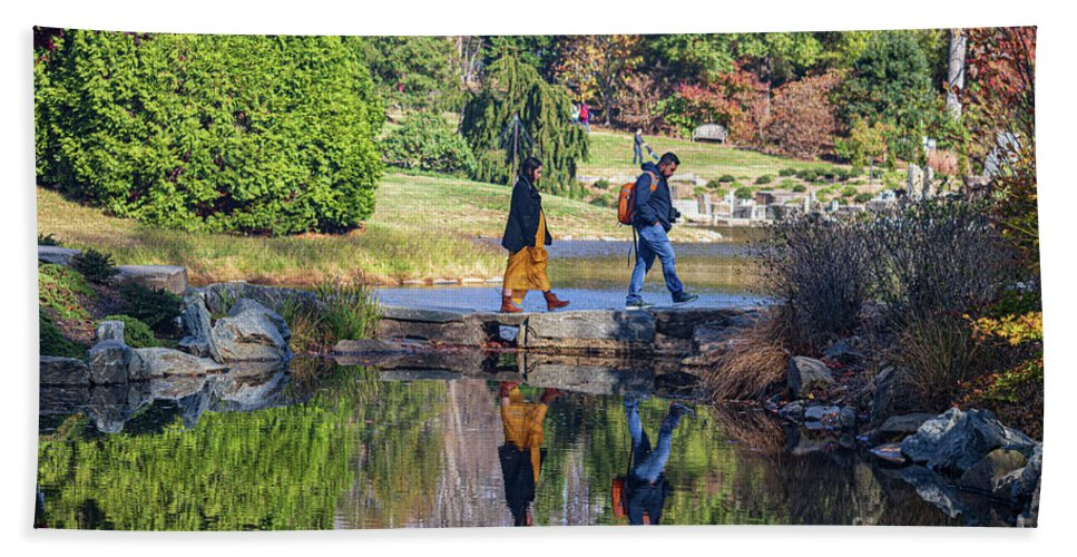 America Beach Towel featuring the photograph Stone Bridge, Brookside Gardens by Thomas Marchessault