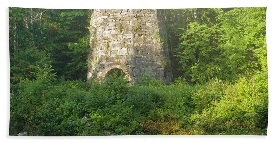 1800s Beach Towel featuring the photograph Stone Iron Furnace - Franconia New Hampshire by Erin Paul Donovan