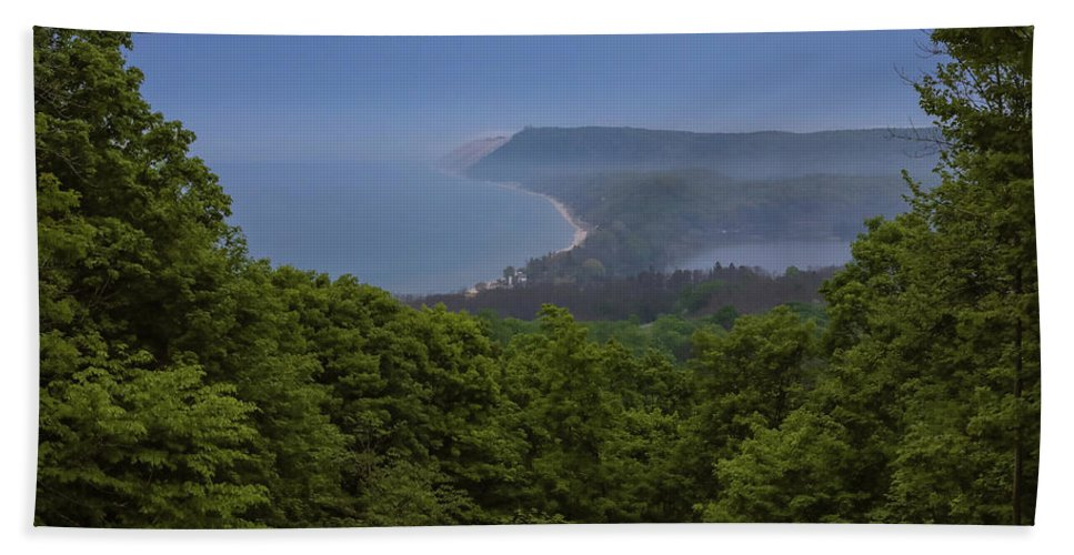 Sleeping Bear Dunes Lakeshore Beach Towel featuring the photograph Stormy Day On Sleeping Bear Dunes by Dan Sproul