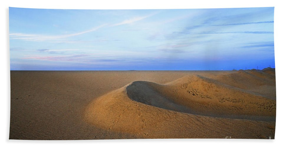 Landscape Beach Towel featuring the photograph Sunset Sand Dunes by Hanna Tor