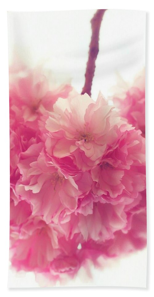 Cherryblossoms Beach Towel featuring the photograph Sweet Heart Of Spring by The Art Of Marilyn Ridoutt-Greene