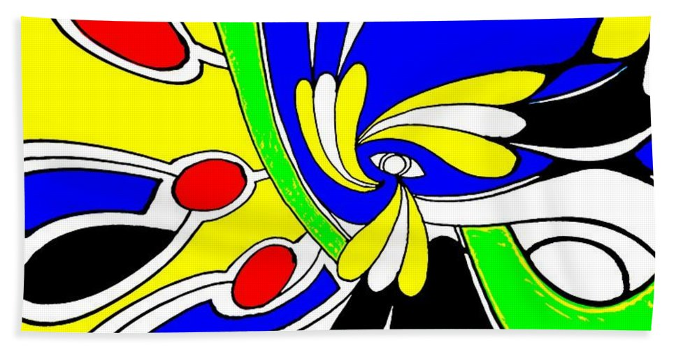 Abstract Beach Towel featuring the digital art Tears by Graham Roberts
