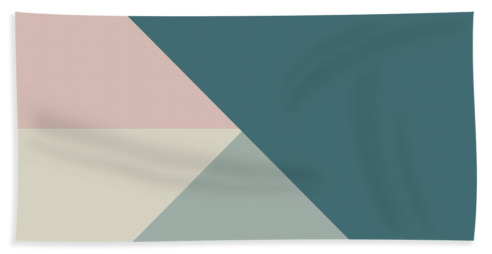 Terrazzo Colors Beach Towel featuring the digital art Terrazzo Corners 4- Art By Linda Woods by Linda Woods