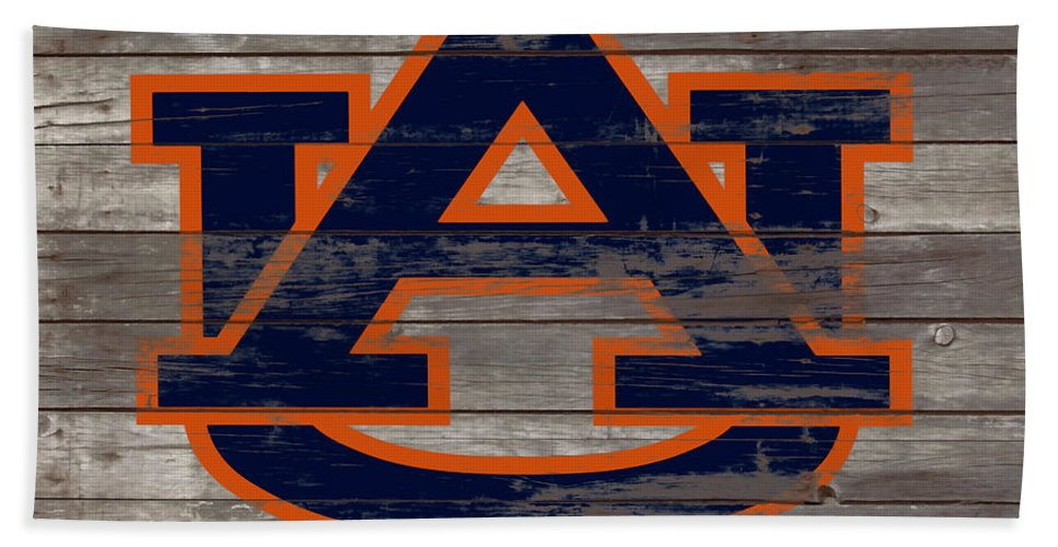 Auburn Tigers Beach Towel featuring the mixed media The Auburn Tigers 5a by Brian Reaves