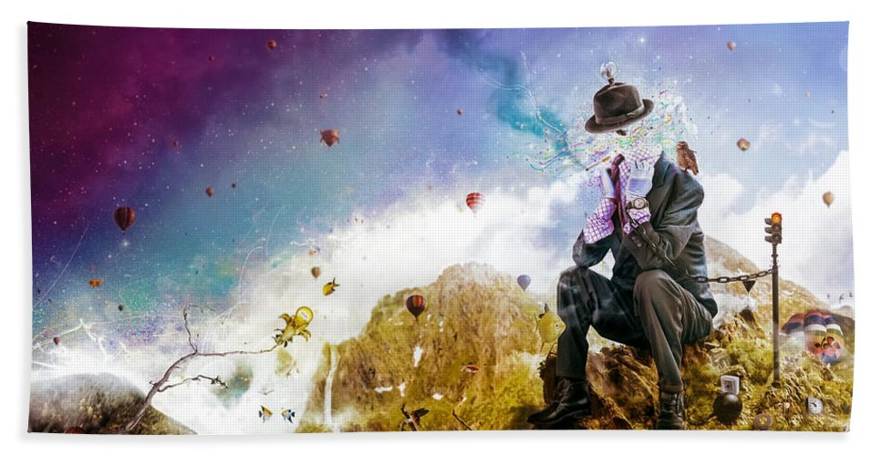 Surreal Beach Towel featuring the digital art The Uninspired by Mario Sanchez Nevado