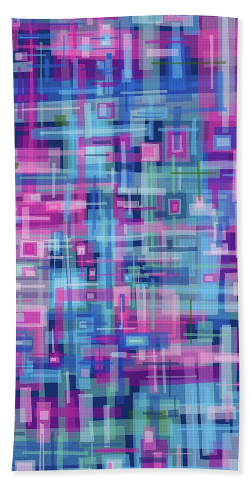 Nonobjective Beach Sheet featuring the digital art Thought Patterns #4 by James Fryer