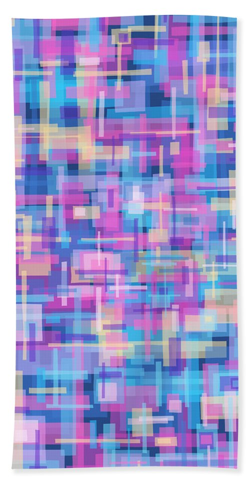 Nonobjective Beach Towel featuring the digital art Thought Patterns #5 by James Fryer