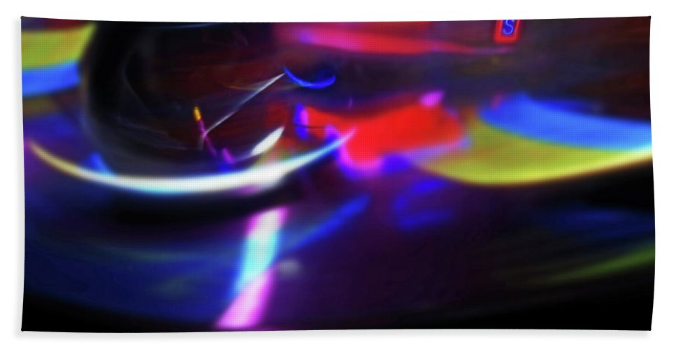 Speeding Walzers Beach Towel featuring the painting Thrill by Charles Stuart