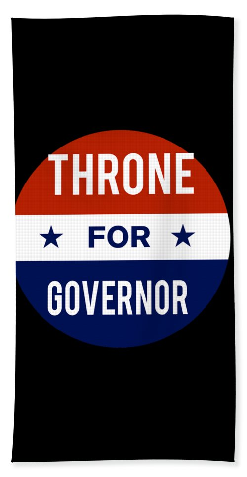 Election Beach Towel featuring the digital art Throne For Governor 2018 by Flippin Sweet Gear