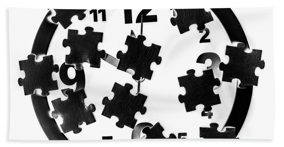 Puzzle Beach Sheet featuring the photograph Time Complexities by Jorgo Photography - Wall Art Gallery