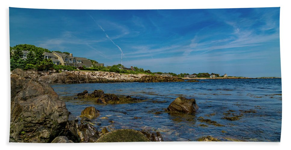 Kennebunkport Beach Towel featuring the photograph Tranquil Blues Day Kennebunkport by Betsy Knapp