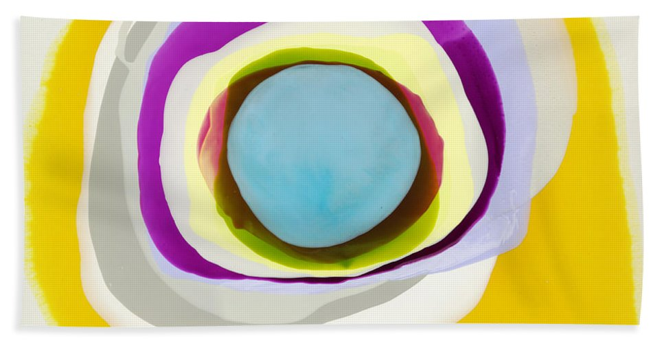 Abstract Beach Towel featuring the photograph Tranquil by Claire Desjardins