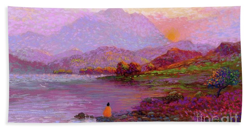 Sun Beach Towel featuring the painting Tranquil Mind by Jane Small