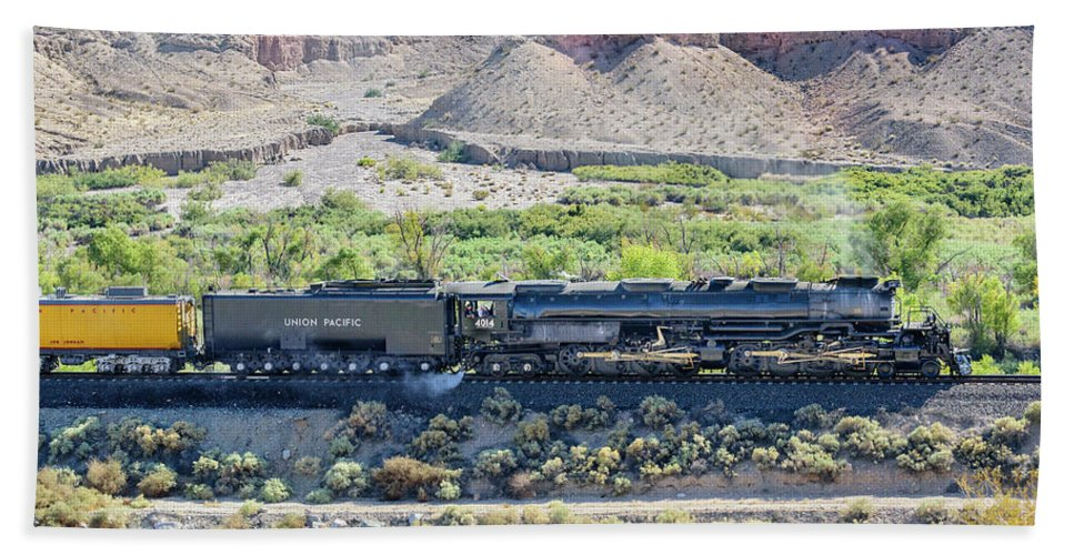 Afton Canyon Beach Sheet featuring the photograph Up4014 Big Boy by Jim Thompson