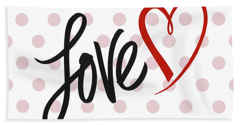 Valentine's Beach Towel featuring the mixed media Valentine's Love by Sd Graphics Studio