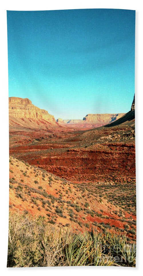 Desert Beach Towel featuring the photograph View from the Hilltop by Kathy McClure