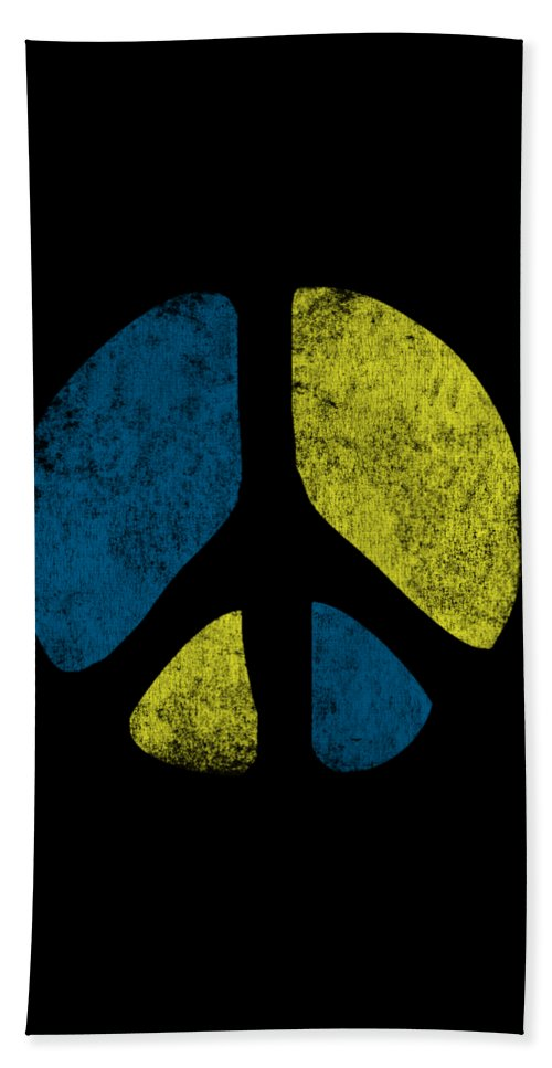 Cool Beach Towel featuring the digital art Vintage Peace Sign by Flippin Sweet Gear