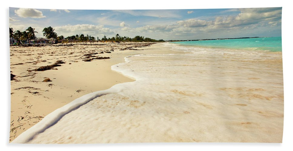 Walking Beach Towel featuring the photograph Walking At High Tide by Susan Bryant