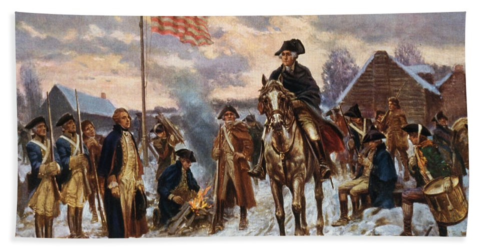 Large George Washington At Valley Forge Revolution War Real Canvas Art Print New