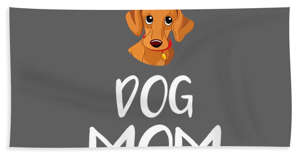 women's Shops Beach Towel featuring the digital art Womens Dog Mom Dachshund Mothers Day Dog Lover Gift Vneck Tshirt by Do David