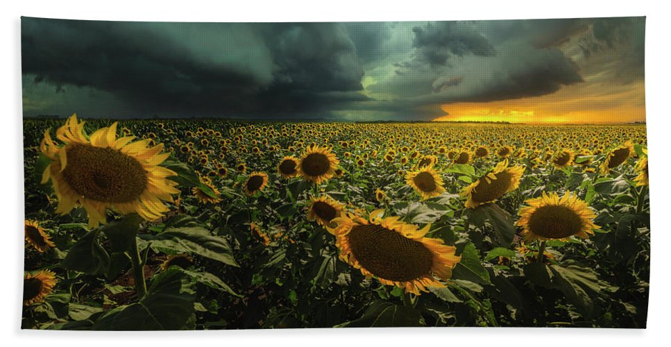 Thunderstorm Beach Towel featuring the photograph Wrong Side Of Heaven by Aaron J Groen