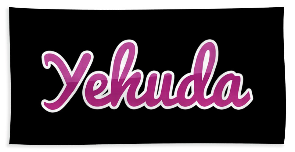 Yehuda Beach Sheet featuring the digital art Yehuda #yehuda by Tinto Designs