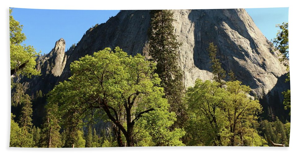 El Capitan Beach Towel featuring the photograph Yosemite Valley Serenity by Christiane Schulze Art And Photography