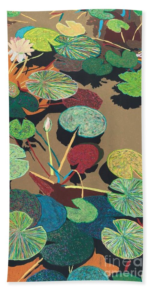 Landscape Beach Towel featuring the painting Catfish Corner by Allan P Friedlander