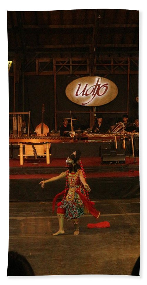 Dance Beach Towel featuring the photograph Mask Dance by Lingga Tiara Setiadi